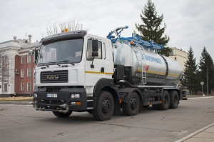 Ferrexpo Poltava mining and processing plant enlarged its truck fleet due to the unique multifunctional specialized vehicle