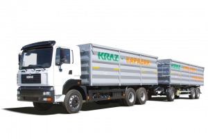 The grain road train KrAZ-6511С4-500