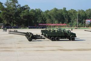 KrAZ Trucks at Military Parade in Laos