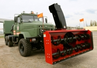 Special Off Road vehicle KrAZ to Remove Snow from Motorways in Nikolayev