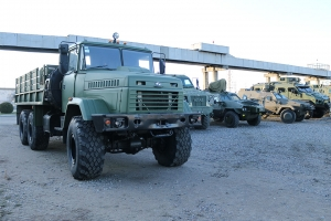 "The first stage of vehicle demonstration for the Armed Forces of Ukraine was completed at the ""AutoKrAZ"" test site."