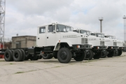 Foreign Customer Inspects KrAZ Trucks built to his Order